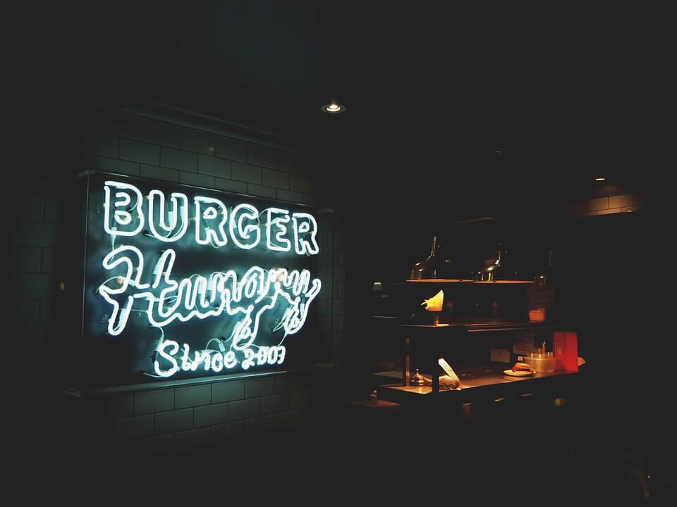 реклама бургерной