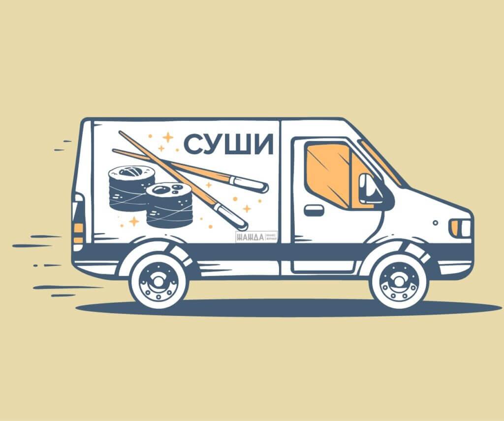 бизнес на доставке суши и роллов